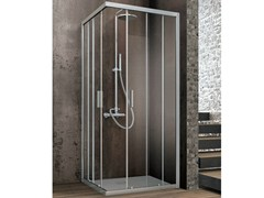 - Corner crystal shower cabin with two sliding doors ASTER-T | Rectangular shower cabin - GRUPPO GEROMIN
