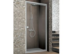 - Crystal shower cabin with movable linchpin door ASTER-T - GRUPPO GEROMIN