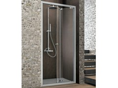 - Rectangular crystal shower cabin with folding door ASTER-T | Shower cabin with folding door - GRUPPO GEROMIN