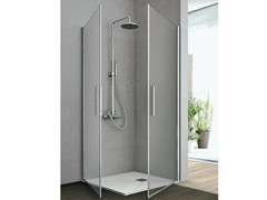 - Crystal shower cabin with two shutter doors LINE | Shower cabin - GRUPPO GEROMIN