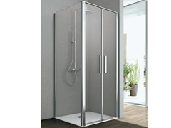 - Corner shower cabin with two saloon doors and one fixed side LINE | Corner shower cabin - GRUPPO GEROMIN