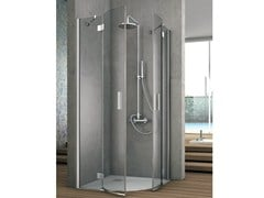 - Corner shower cabin with two shutter doors ELEMENT - GRUPPO GEROMIN