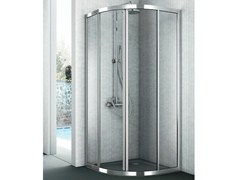 - Corner crystal shower cabin with two sliding doors EASY - GRUPPO GEROMIN