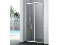 - Crystal shower cabin with one sliding door EASY | Shower cabin with sliding door - GRUPPO GEROMIN