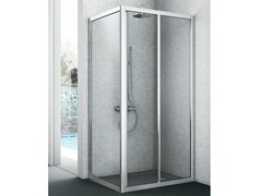 - Corner shower cabin with fixed side EASY | Shower cabin - GRUPPO GEROMIN