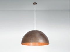 - Burnished copper pendant lamp ORU F25 A07 - Fabbian