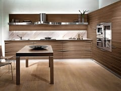 - Linear walnut fitted kitchen TIME | Linear kitchen - Snaidero