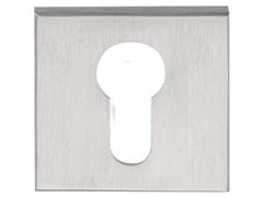 - Square brushed steel keyhole escutcheon SQUARE | Square keyhole escutcheon - Formani Holland B.V.