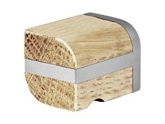 - Stainless steel and wood Furniture knob TWO | Stainless steel and wood Furniture knob - Formani Holland B.V.