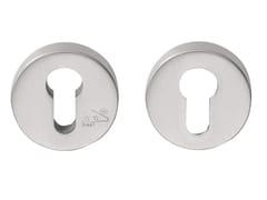 - Round brushed steel keyhole escutcheon FOLD | Round keyhole escutcheon - Formani Holland B.V.