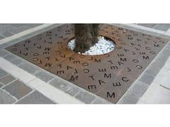 Griglia per alberi in acciaio Corten™LITTERA - METALCO
