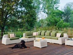 - Sectional upholstered garden sofa VOGUE | Sectional sofa - Atmosphera