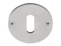 - Round brushed steel keyhole escutcheon EDGY | Stainless steel keyhole escutcheon - Formani Holland B.V.