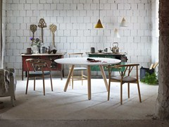 - Lacquered round MDF table PIXIE | Round table - Miniforms