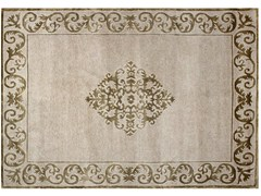 - Handmade rectangular custom rug AMIRAL PLATINE - EDITION BOUGAINVILLE