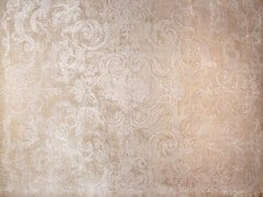 - Handmade rectangular custom rug CARDINAL IVOIRE - EDITION BOUGAINVILLE