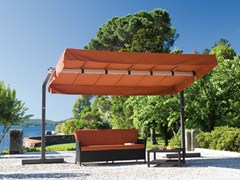- Rectangular aluminium Garden umbrella MIAMI GRAPHITE - FIM