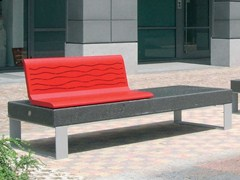 - Modular Bench with back DIAMANTE | Bench with back - Metalco