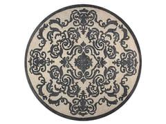 - Tappeto fatto a mano quadrato in stile moderno su misura CARDINAL CIRCLE PEARL - EDITION BOUGAINVILLE