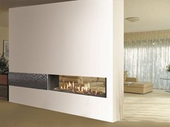 - Gas Fireplace insert VENEZIA | Double-sided Fireplace insert - ITALKERO