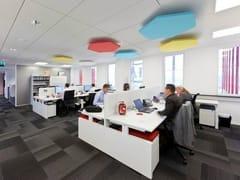- Glass wool acoustic ceiling clouds Ecophon Solo™ Hexagon - Saint-Gobain ECOPHON