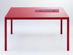 - Extending aluminium table COLORS   Square table - MDF Italia