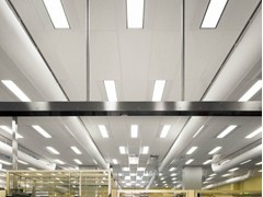 - Sound absorbing glass wool ceiling tiles for healthcare facilities Ecophon Hygiene LabotecAir™ A C1 - Saint-Gobain ECOPHON
