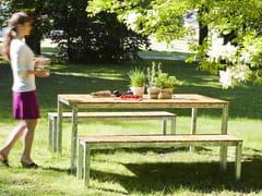 - Rectangular steel and wood garden table ROBIN | Rectangular table - sixay furniture