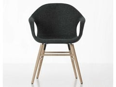 - Fabric chair with armrests ELEPHANT UPHOLSTERED - Kristalia