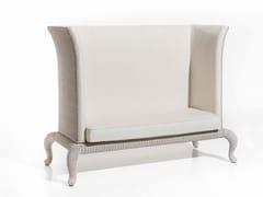 - High-back fabric garden sofa ANTARES | 2 seater sofa - Samuele Mazza Outdoor Collection by DFN