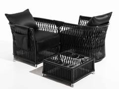 - Woven wicker garden armchair with armrests VEGA   Garden armchair - Samuele Mazza Outdoor Collection by DFN