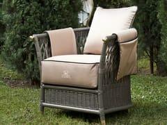 - Design upholstered wooden garden armchair with armrests VEGA | Garden armchair - Samuele Mazza Outdoor Collection by DFN