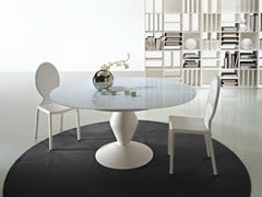- Extending round crystal table MICHELANGELO | Extending table - CIACCI