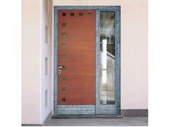 Porta d'ingresso in mogano per esternoPorta d'ingresso in mogano - CARMINATI SERRAMENTI