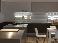 - Linear aluminium fitted kitchen without handles B3 | Aluminium kitchen - Bulthaup