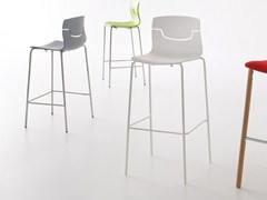 - Stackable counter stool SLOT | Stackable chair - GABER