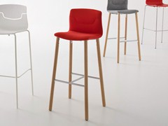 - Upholstered stackable counter stool SLOT | Counter stool - GABER