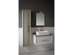 - Wall-mounted vanity unit with mirror CHARME 1 - BLEU PROVENCE