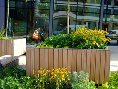 - Wooden Flower pot TREE 1500 - Factory Street Furniture
