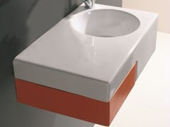 Washbasin with drawers with top TUTTO | Washbasin with top - Olympia Ceramica