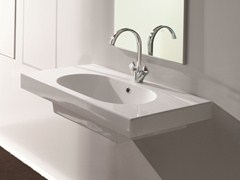 Rectangular wall-mounted washbasin TUTTO | Rectangular washbasin - Olympia Ceramica