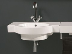 Wall-mounted washbasin TUTTO | Wall-mounted washbasin - Olympia Ceramica