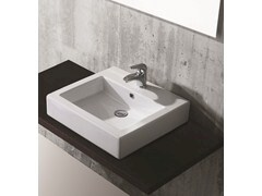 Countertop rectangular washbasin FLY - Olympia Ceramica