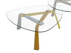 - Glass coffee table for living room IRIS | Coffee table - LEOLUX
