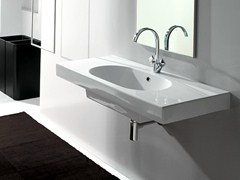 Rectangular wall-mounted washbasin with top TUTTO | Rectangular washbasin - Olympia Ceramica