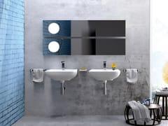 - Wall-mounted ceramic washbasin COMO | Wall-mounted washbasin - CERAMICA FLAMINIA