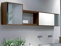- Suspended ash wall cabinet with mirror VELA | Wall cabinet with mirror - GD Arredamenti