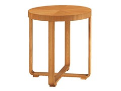 - Round cherry wood high side table REMO | High side table - Morelato