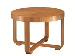 - Low round cherry wood coffee table REMO | Low coffee table - Morelato