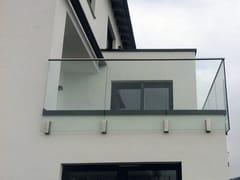 Parapetto in acciaio inoxEASY GLASS® MOD 0763 - Q-RAILING ITALIA